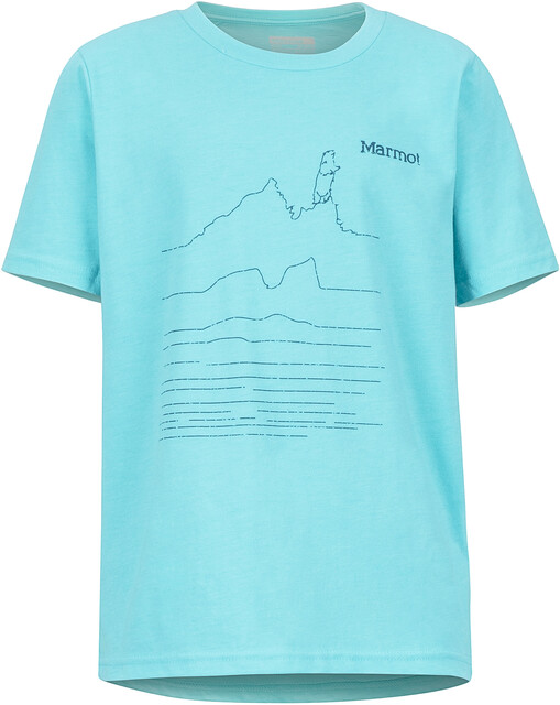 Marmot Purview SS Tee Gutter tahiti blue heather | Gode